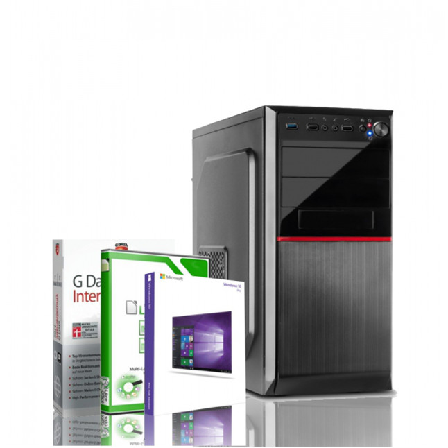 Gaming PC AMD Quad Core FX 4100 GeForce GT 1030 Windows 10 PRO Rechner Computer 40