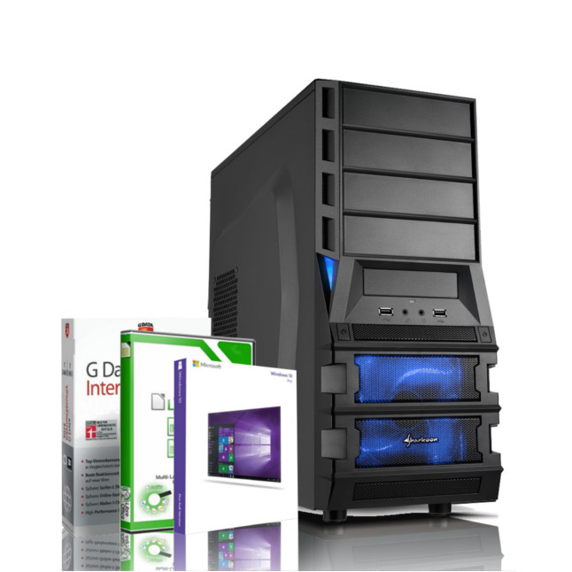Gaming PC AMD Quad Core FX 4100 GeForce GT 1030 Windows 10 PRO Rechner Computer 5