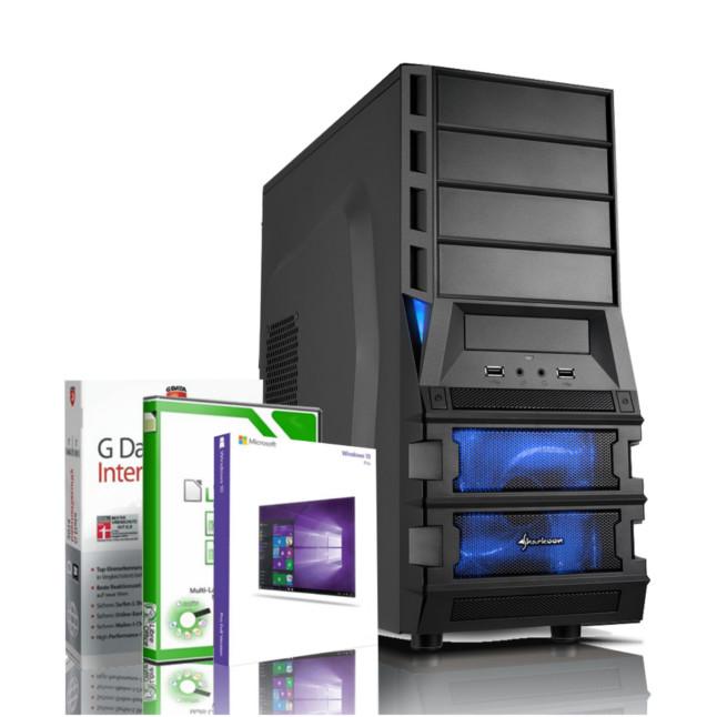 Gaming PC AMD Quad Core FX 4100 GeForce GT 1030 Windows 10 PRO Rechner Computer 4